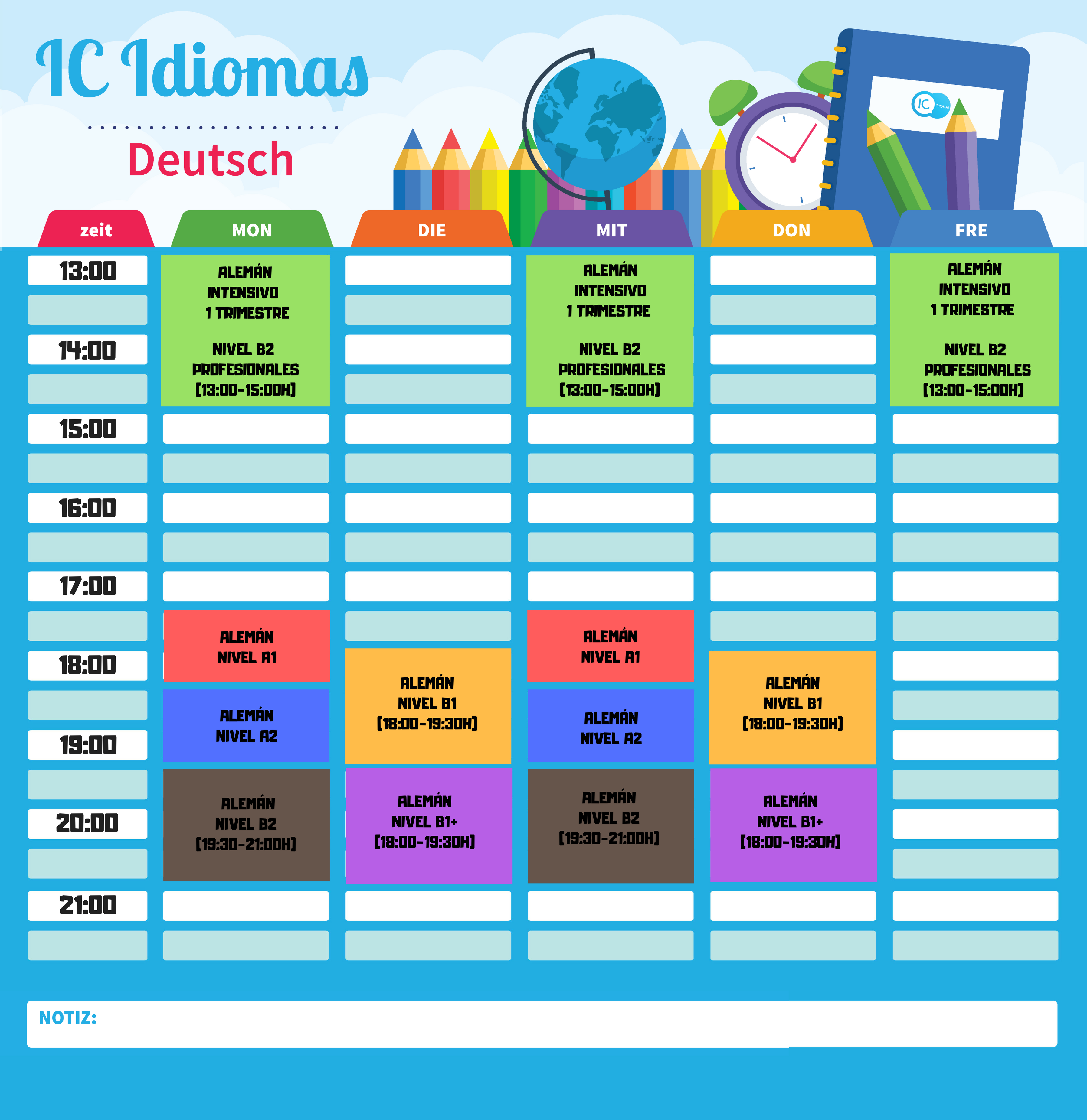 calendario alemán madrid