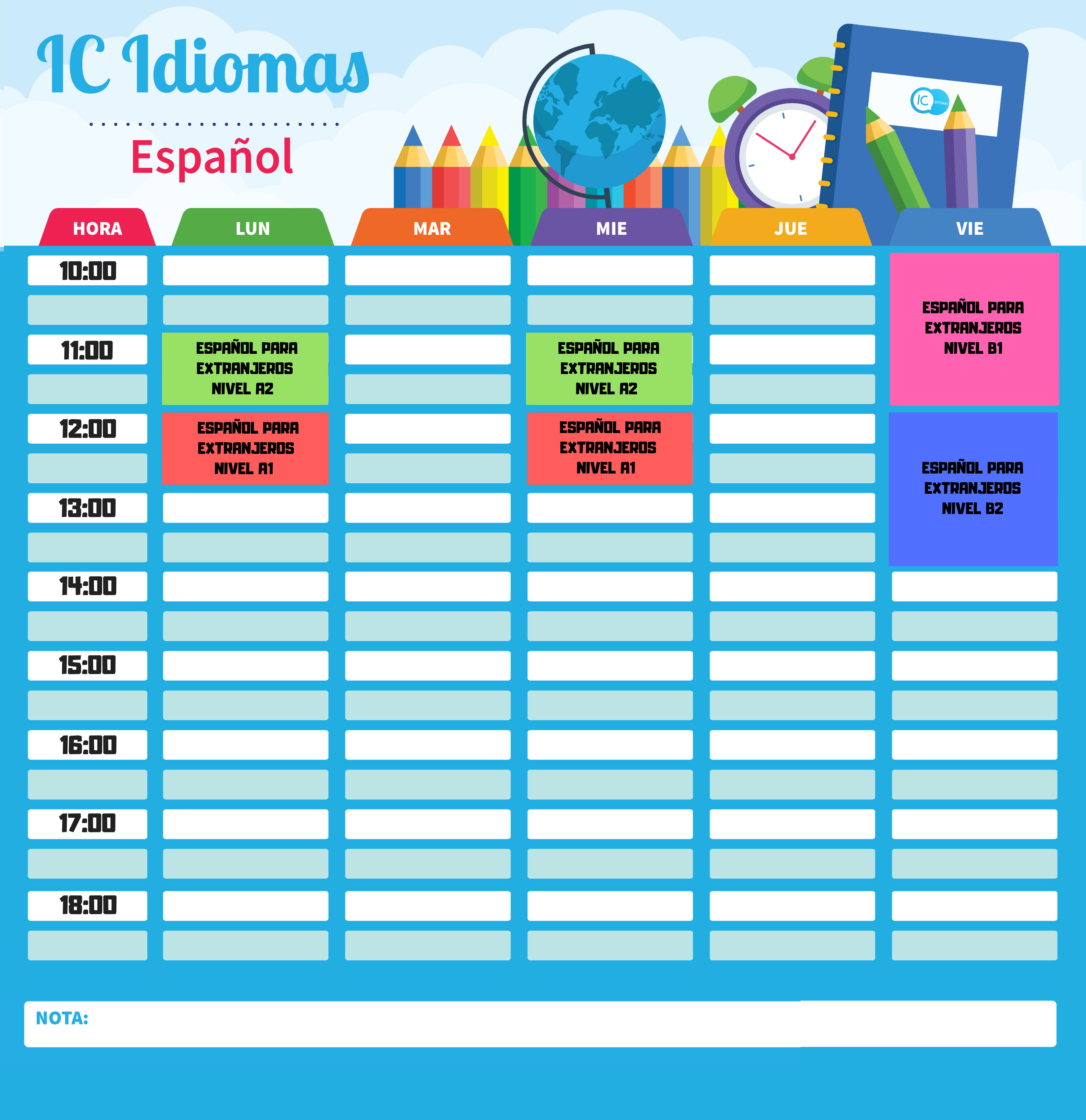 calendario español madrid