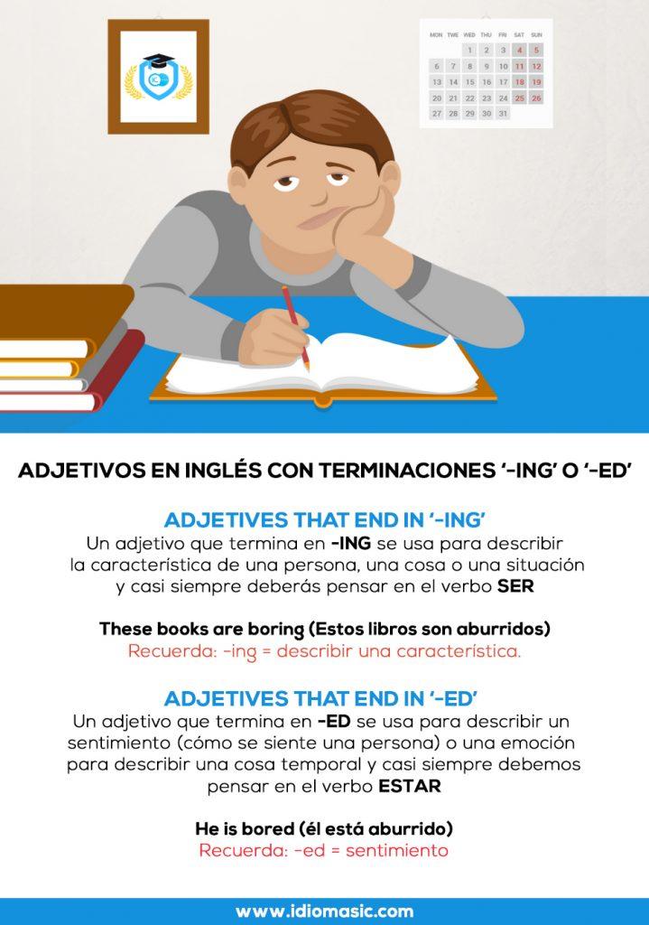 adjetivos en inglés con terminaciones-ing-o ed