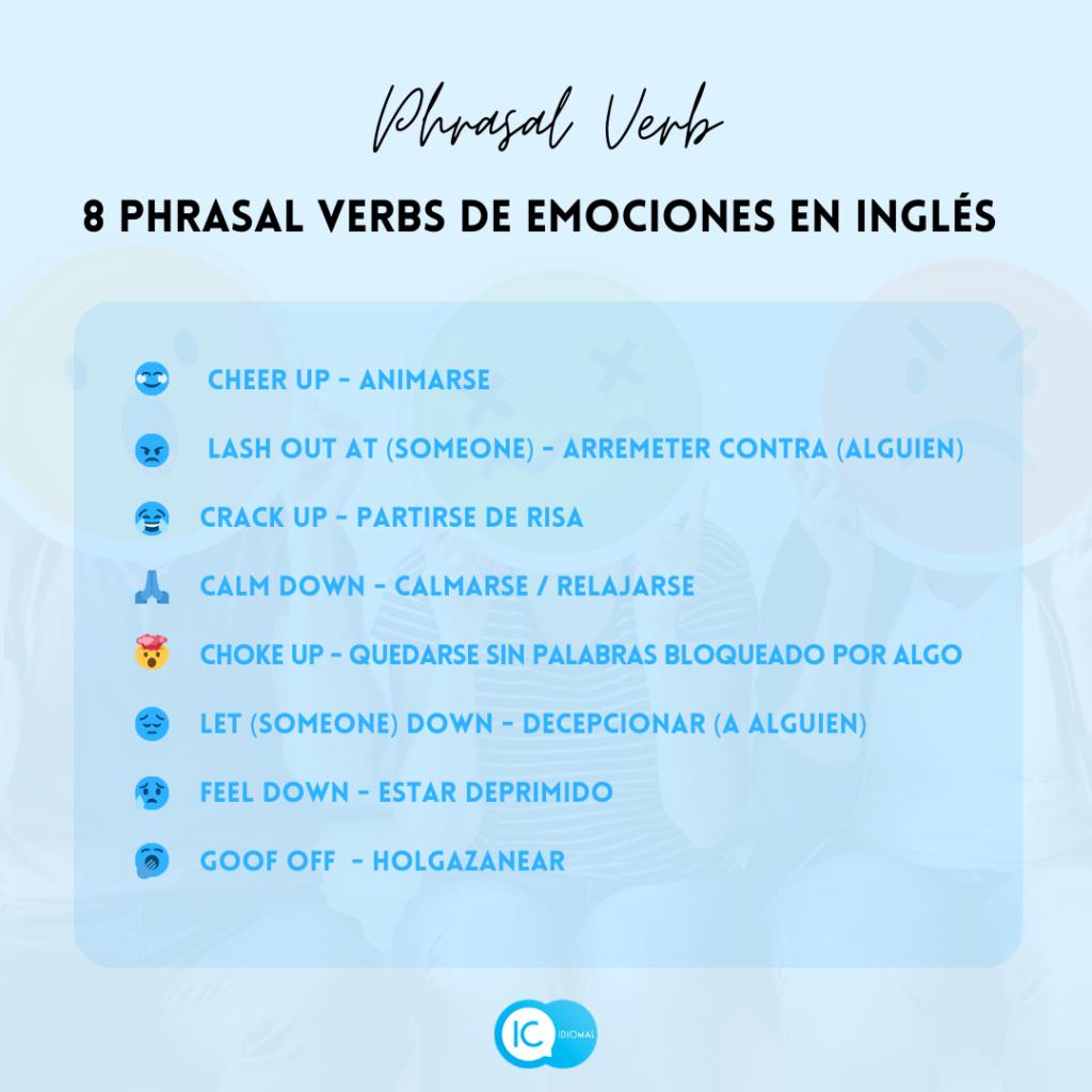 Phrasal verbs emociones inglés